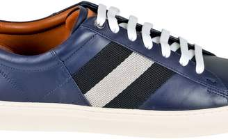 Bally Men's Leather Trainer In Ink