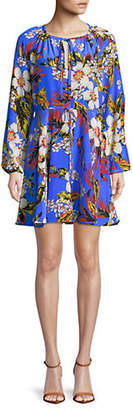 Diane von Furstenberg Floral Cinched Sleeve Dress