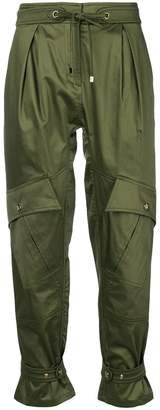 Roberto Cavalli cropped high waist trousers