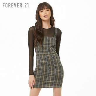 Forever 21 (フォーエバー 21) - Forever 21 プレイドチェックミニワンピース
