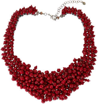 Panacea Pannee By Red Multiple Bead Statement Necklace