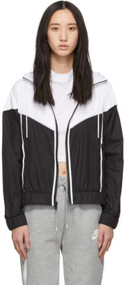 Nike Black and White Windrunner Jacket