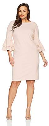 Calvin Klein Women's Plus Size Tiered Bell Sleeve Dress