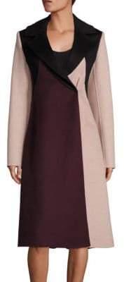 HUGO BOSS Runway Cibina Wool & Cashmere Colorblock Coat