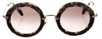 Miu Miu Embellished Tinted Sunglasses