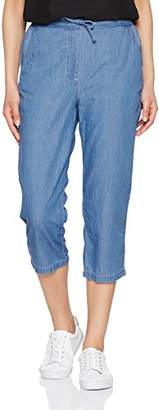 Damart Women's Pantacourt Enfilable Femme Chambray Trousers, Blue (Bleu Chambray), (Manufacturer size : 18)