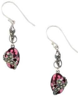 Lord & Taylor Marcasite and Sterling Silver Drop Earrings