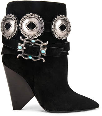 Saint Laurent Niki Western Boots in Black | FWRD