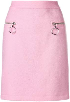 Moschino zipped pockets skirt