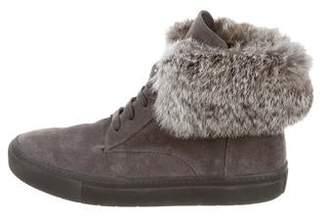 Vince 2018 Nyack Fur-Trimmed Sneakers