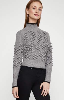 BCBGMAXAZRIA Popcorn Stitch Turtleneck Sweater