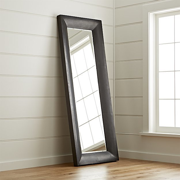 Crate & Barrel Maxx Black Floor Mirror