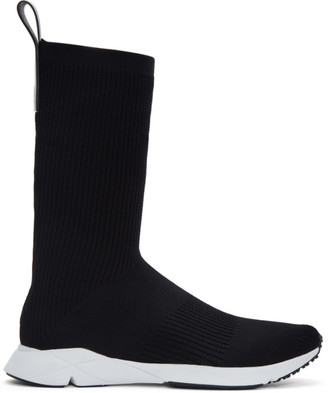 Reebok Classics Black Sock Supreme ULTK High-Top Sneakers $220 thestylecure.com