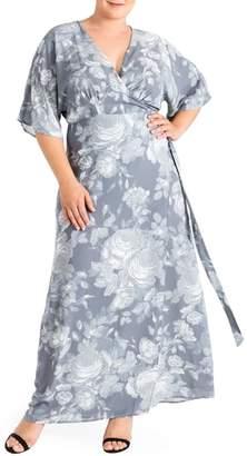Standards & Practices Olivia Print Wrap Maxi Dress