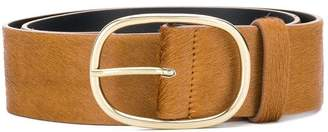Closed goat fur belt