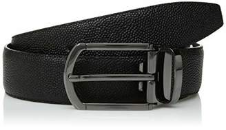 Bugatchi Men's Reversible Mini Grained Leather Belt