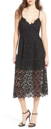 Women's Astr The Label Lace Midi Dress $89 thestylecure.com