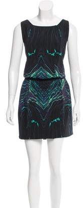 Brian Reyes Abstract Print Silk Dress w/ Tags