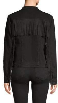 L'Agence Celine Femme Fringe Denim Jacket