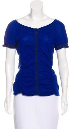 Philosophy di Alberta Ferretti Short Sleeve Button-Up Top