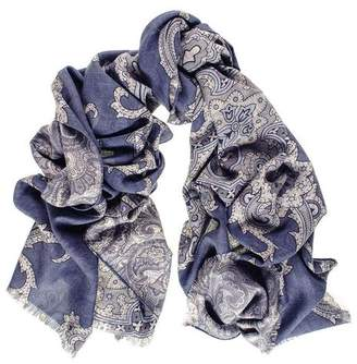 Black Cellini Reversible Wool and Silk Scarf