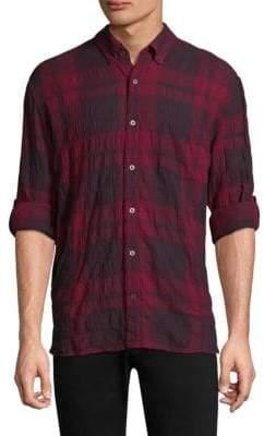 John Varvatos Plaid Casual Button-Down Shirt
