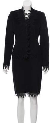 Versace Angora-Blend Skirt Suit