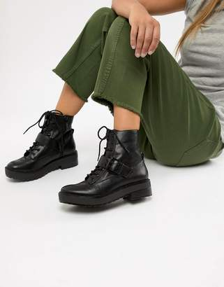 Bershka lace up boot