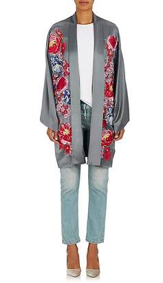 Alice Archer Women's Embroidered Silk Kimono