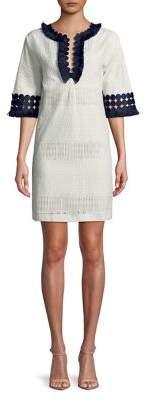 Badgley Mischka Belle Daya Quarter-Sleeve Shift Dress