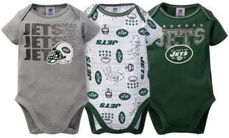 Gerber Childerenswear New York Jets 3 Pack Creeper Set, Infants (0-9 Months)