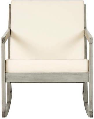 One Kings Lane Vala Outdoor Rocking Chair - Gray