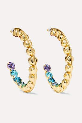 Swarovski LELET NY - Spectrum Gold-plated Crystal Earrings