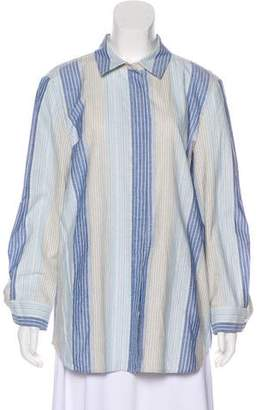 Lafayette 148 Striped Embellished Top w/ Tags