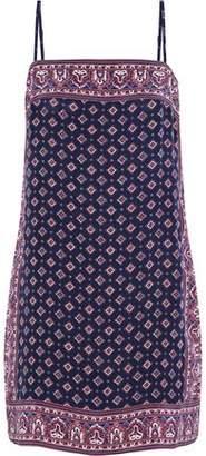 Joie Adryel Printed Silk Crepe De Chine Mini Dress