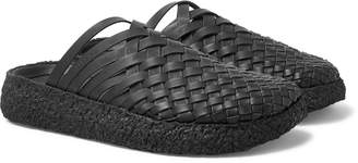 Malibu - Colony Woven Faux Leather Sandals - Men - Black
