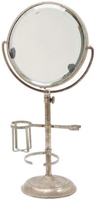 Rejuvenation Well-Worn Nickel Plated Shaving Mirror