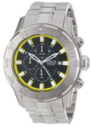 Invicta Men's 13105 Pro Diver Chronograph Black Textured Dial Stainless Steel Watch