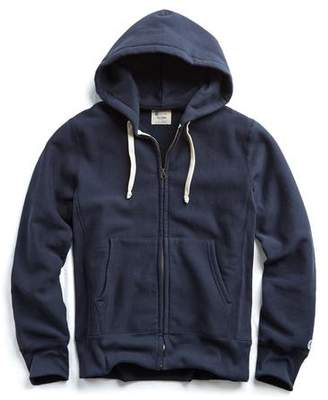 Todd Snyder + Champion Champion Full Zip Hoodie in Navy