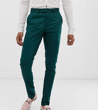 Green Cotton Asos Design ASOS DESIGN Tall skinny pants in