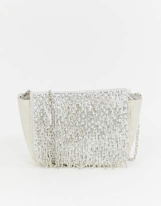 db1da174c4 New Look Fringe Bead Chain Shoulder Bag