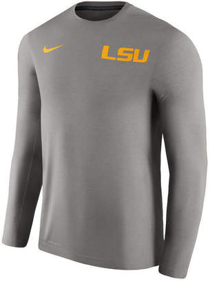 Nike Men's Lsu Tigers Dri-Fit Touch Long Sleeve T-Shirt