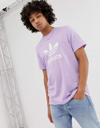 adidas t-shirt with trefoil logo in purple