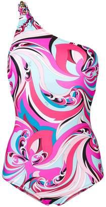 Emilio Pucci one-shoulder swimsuit
