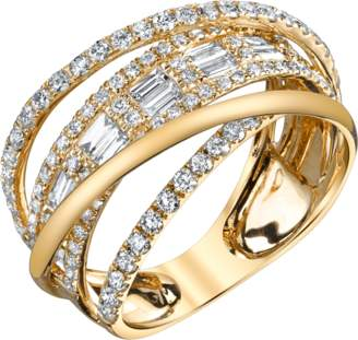 Shay Jewelry Baguette Diamond Orbit Ring