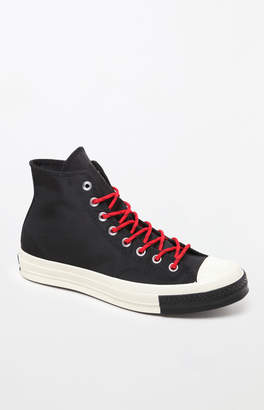 Converse Chuck 70 Red Lace Black High Top Shoes