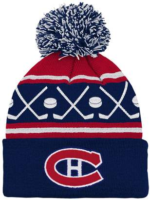 Outerstuff Youth Montreal Canadiens NHL Hockey Pom-Pom Cuffed Knit Toque