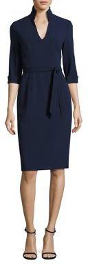 Black Halo Madeline Tie-Waist Sheath Dress $375 thestylecure.com