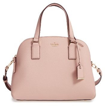 Kate Spade New York Cameron Street - Lottie Leather Satchel - Beige