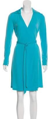 Calvin Klein Knee-Length Wrap Dress